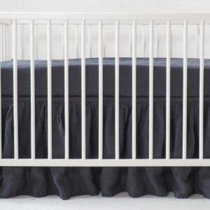 Falbanka do łóżeczka charcoal