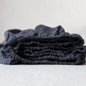 Lniane prześcieradło dla dzieci charcoal