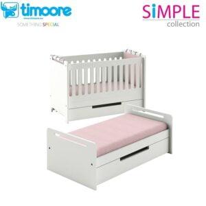 łóżeczko dla dzieci 2 w 1, transporformowalne, łóżeczko simple