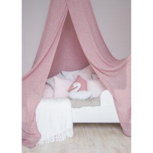 Baldachim nad łóżeczko śliwkowy róż
