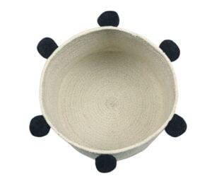basketnaturalblack2 300x256 - Kosz na zabawki Bubbly Natural Black