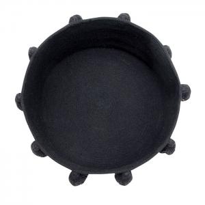 baskettasselblack2 300x300 - Kosz na zabawki Tassels Black