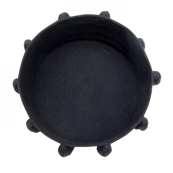 baskettasselblack2 600x600 - Kosz na zabawki Tassels Black