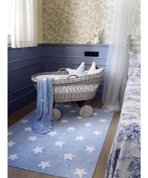 Niebieski dywan Blue Stars White