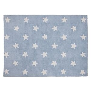Dywan blue stars white
