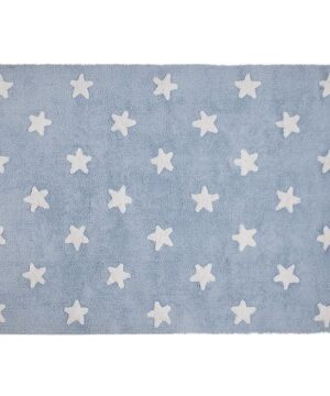 Dywan blue stars white