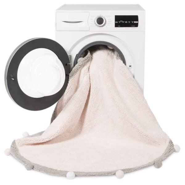 bubblypink2 600x600 - Różowy okrągły dywan Bubbly