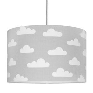 Lampa sufitowa chmurki na szarym