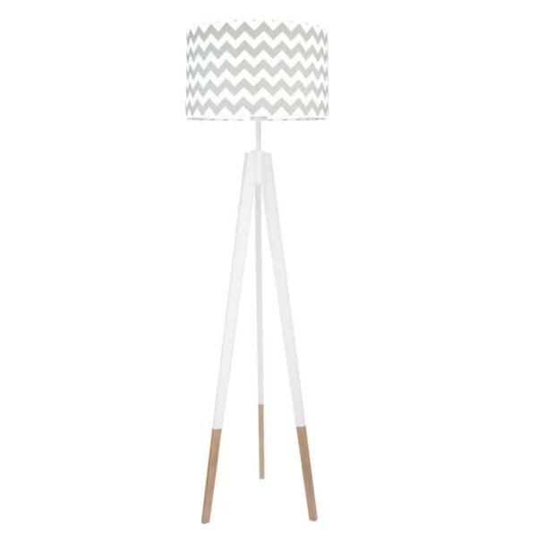 chevronszarywsk 600x600 - Lampa podłogowa trójnóg chevron szary