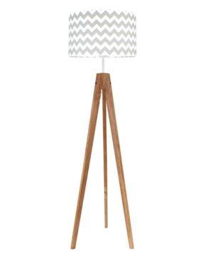 chevronszaryzdebem 300x360 - Lampa podłogowa chevron szary