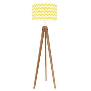 chevronzoltyzdebem 300x300 - Lampa podłogowa trójnóg chevron żółty