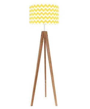 chevronzoltyzdebem 300x360 - Lampa podłogowa chevron żółty