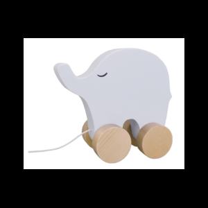 Drewniany słoń do ciągnięcia