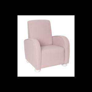 Fotel dziecięcy pudrowy róż