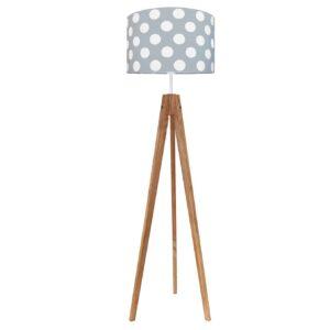 gochynaszarymdab 300x300 - Lampa podłogowa trójnóg pastelowe grochy na szarym