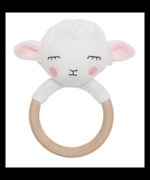 Grzechotka-gryzak drewniana owieczka