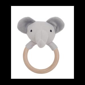 Grzechotka gryzak drewniany - słoń