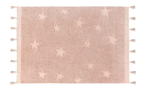 hippystarsrose 600x373 - Dywan Hippy Stars Vintage Nude