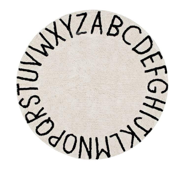 Dywan okrągły ABC Natural MeeBee dla dzieci