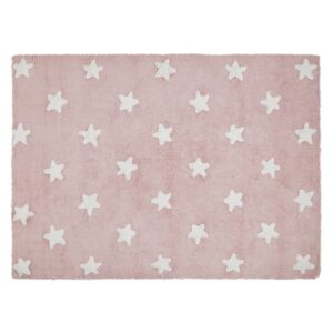 Dywan Stars pink white
