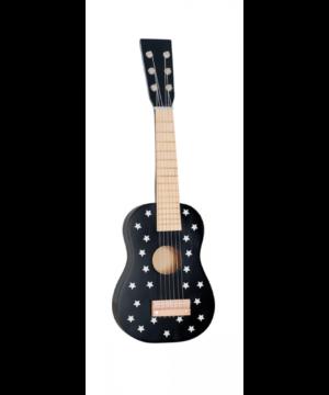 drewniana gitara czarna gwiazdki jabadabado.jpg 300x360 - Drewniana czarna gitara