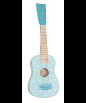 drewniana gitara pastelowy niebieski jabadabado.jpg 300x360 - Drewniana niebieska gitara