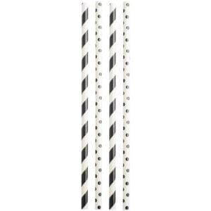 slomki bialo czarne 300x300 - Słomki biało czarne