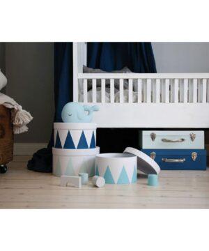 walizka niebieska komplet 2szt 300x360 - Komplet 2 szt niebieskich walizek