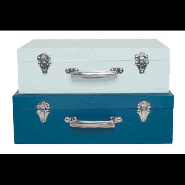 Komplet walizek ozdobnych do pokoju dziecka. Niebieski walizki do pokoju dziecka