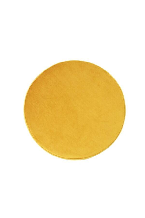 03 resized 600x900 - Okrągła pufa Small żółty welur