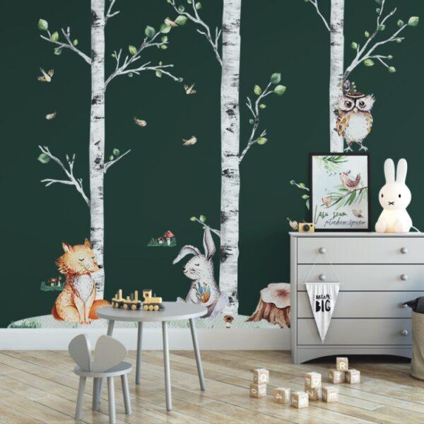 Naklejka na ścianę naturalne brzozy