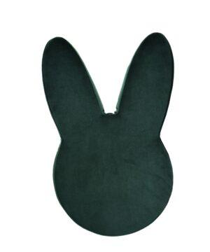 Pufa welurowa w kształcie królika