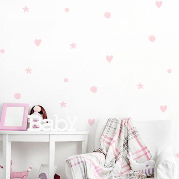 1 max 102 600x600 - Naklejki na ścianę pastelowe kształty