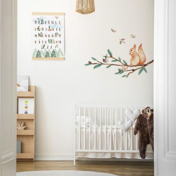 Naklejka na ścianę wiewiórka