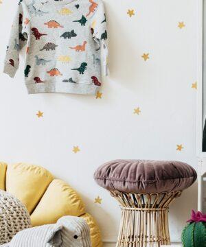 Naklejki na ścianę żółte gwiazdki