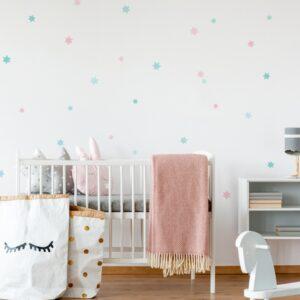 pastelowe naklejki na ścianę do pokoju dziecka,