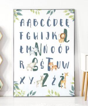 Plakat alfabet safari