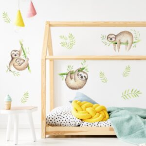 Naklejki na ścianę leniwce