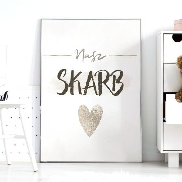 Plakat na ścianę do pokoju dziecięcego nasz skarb