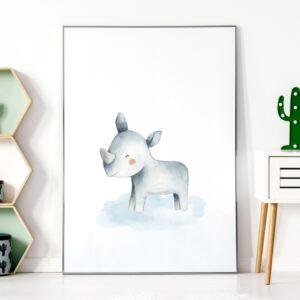 Plakat na ścianę nosorożec safari
