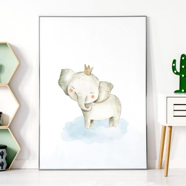 Plakat na ścianę słoń safari