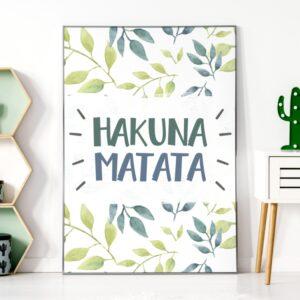 Plakat na ścianę hakuna matata