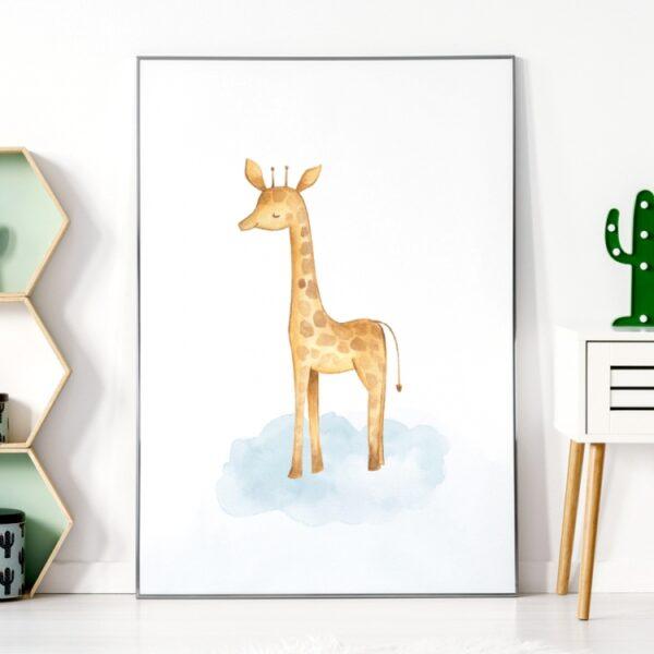 Plakat na ścianę żyrafa safari