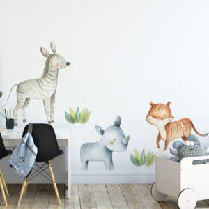 Naklejki na ścianę zwierzęta safari