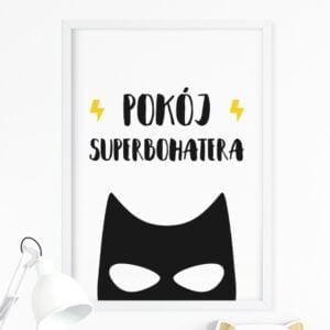Plakat na ścianę pokój superbohatera