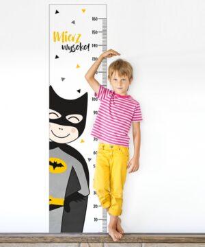 Naklejka miarka wzrostu superbohater