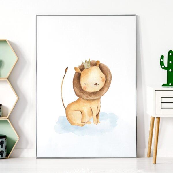 Plakat na ścianę lew safari