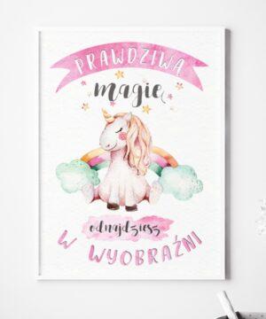 Plakat na ścianę prawdziwa magia