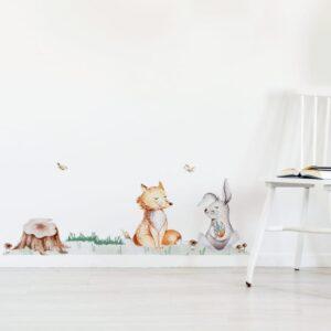 e6cf7c92 Naklejki na ścianę jeleń jeż wiewiórka DK319 - MeeBee dla dzieci