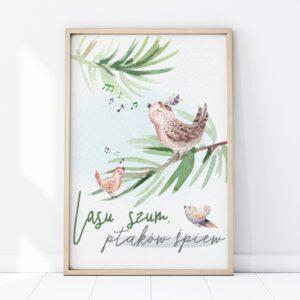 1 max 53 300x300 - Plakat na ścianę lasu szum ptaków śpiew